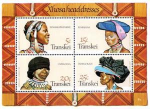 Transkei - 1981 Headdresses of Xhosa Women MS MNH** SG MS96