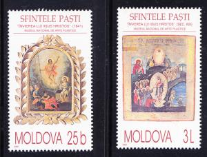 Moldova issue of 2000 Religious Art  Complete XF/NH(**)