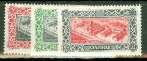 AY: Zanzibar 230-243 mint CV $56.95; scan shows only a few