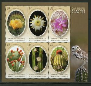 GRENADA GRENADINES  2019 CARIBBEAN CACTI  SHEET MINT NEVER HINGED