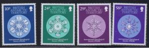 British Antarctic Territory Sc 133-6 1986 Glaciological Soc stamp set mint NH