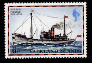 FALKLAND ISLANDS Scott 265 MNH** Ship stamp 1978