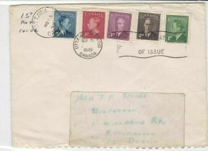 Canada 1949  FDC Ottawa Cancel King George vl Five Stamps Cover ref 22036