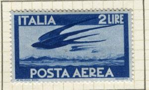 ITALY; 1945 AIRMAIL issue fine Mint hinged 2L. value