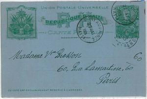 FLAGS - POSTAL STATIONERY - HAITI : 1905