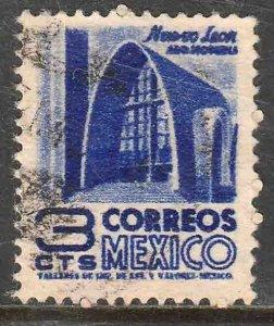 MEXICO 856 3¢ 1950 Definitive wmk 279 Used F-VF, (1)