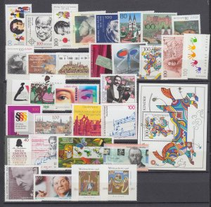 J29743, 1996 various germany all dif & checked mnh lot