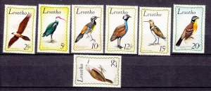 J27501 1971 lesotho set mh #105-11 birds