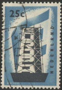 NETHERLANDS 1956 Europa 25c Used VF, Sc 369