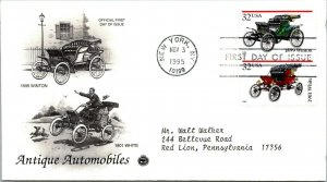 Antique Automobiles 1899 Winton First Day Cover 1995 cachet