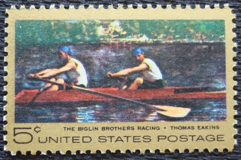 USA Scott 1335 MNH**  Thomas Eakins Skulling Painting 1967