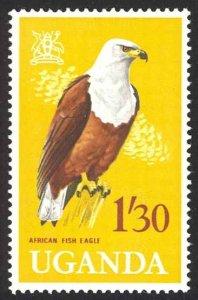 Uganda Sc# 106 MNH 1965 1.30sh Arms of Uganda & Birds