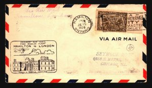 Canada 1929 FFC - Hamilton to London - Z16718