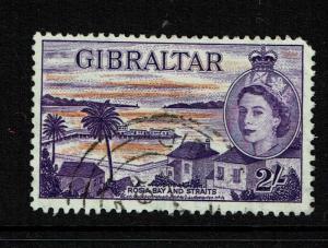 Gibraltar SG# 155, Used, Reddish Violet - Lot 052117