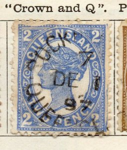 Queensland 1897 Early Issue Fine Used 2d. NW-113704