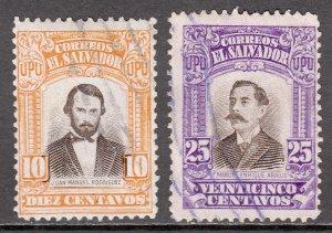 El Salvador - Scott #412-413 - Used - Toned on reverse - SCV $3.00