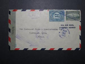 Honduras 1945 Censor Cover to Ohio (II) - Z12004