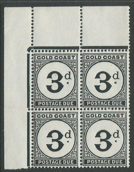 Gold Coast J6 Mint NH UL corner block. $1 combined shipping