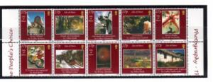Isle of Man Sc 966 2002 27p Local Scenes stamp block mint NH