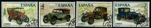 SPAIN SG2458/61 1977 VINTAGE CARS FINE USED