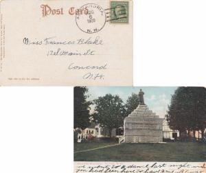 United States New Hampshire Alexandria 1909 doane 3/1  1833-1955  PPC (Soldie...
