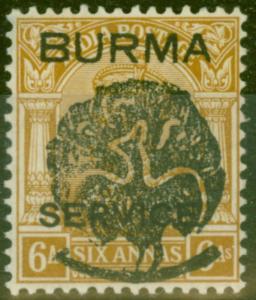 Burma 1942 Jap Occu 6a Bistre SGJ3 V.F MNH