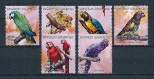 [102932] Madagascar 2001 Birds vögel oiseaux parrots  MNH