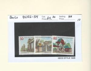 Germany Berlin 9N512-514  MNH