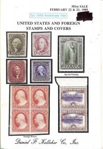 United States and Foreign Stamps and Covers, Kelleher 581