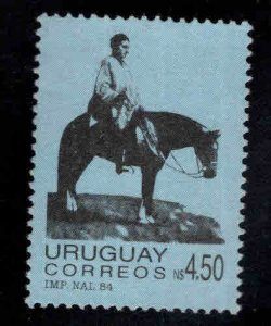 Uruguay Scott 1164 Mint No Gum, Artigas on Horse stamp
