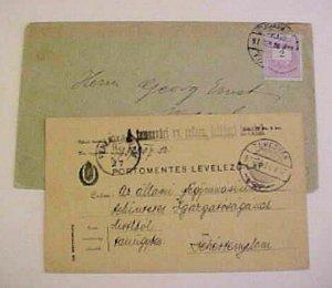 HUNGARY  1897 B/S GERMANY also TREMESVAR 1897