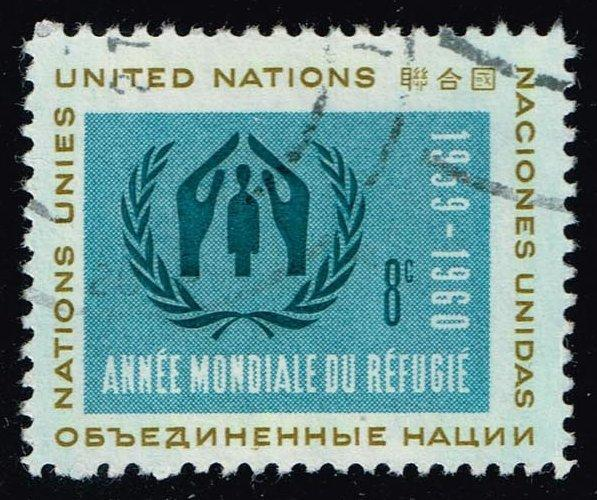 UN New York #76 World Refugee Year; Used (0.25)