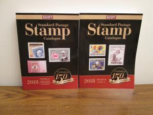 Scott 2018 Stamp Catalog Catalogue Volume 1 A and B