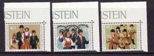D4-Liechtenstein-Sc#694-6-unused NH set-Traditional Costumes