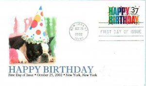 FPMG 3695 Happy Birthday to the Dog Boston Terrier