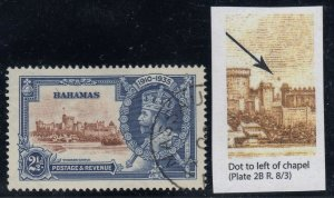 Bahamas, SG 142g, used Dot to Left of Chapel variety