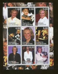 Tajikistan Commemorative Souvenir Stamp Sheet Actress Glen Close 101 Dalmations