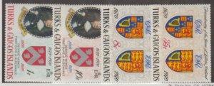 Turks & Caicos Scott #213-216 Stamps - Mint NH Set