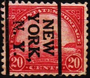 U.S.A. 1922 20c(Pre Cancel) S.G.698 Fine Used