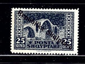 Albania 182 MH 1925 overprint
