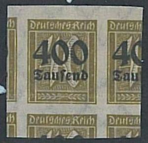 GERMANY REICH - Michel # 300 MLH - VERY NICE ERROR! Missperf misperf !!