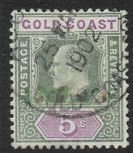 GOLD COAST SG46 1902 5/= GREEN & MAUVE USED