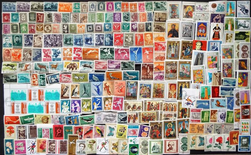 230 Different Stamps from Bulgaria