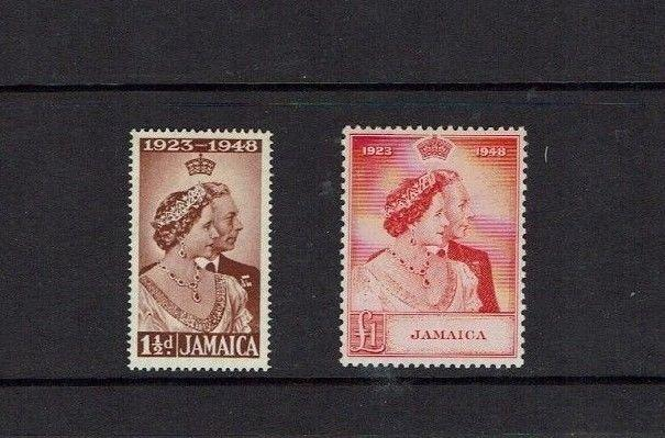 Jamaica: 1948, Royal Silver Wedding, Mint very lightly hinged