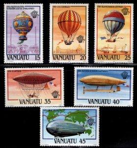 Vanuatu MNH 354-9 Zeppelins & Hot Air Balloons