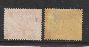 Federated Malay States x 2 used 35c from 1922 set