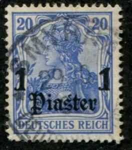German Offices Turkey SC# 33, Germania 1pi on 20pf Used