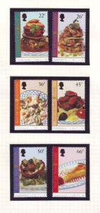 Isle of Man Sc 918-23 2001 Europa Food stamp set NH