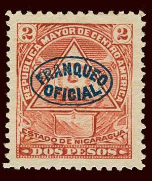 NICARAGUA Scott #O127 1898 Official unused NG