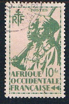 French West Africa 33 Used Colonial Soldier  (BP1029)